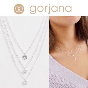 Gorjana Silver Plated 3 Disc Layered Necklace